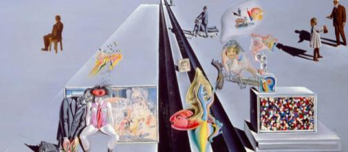 """Detail from Dali's """"The First Days of Spring"""" (1929) en.wikipedia.org"""