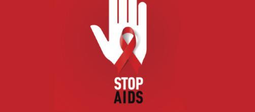 Logo campagna di sensibilizzazione contro l'AIDS. Foto da Internet.