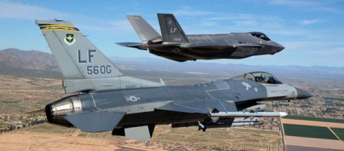 Luke Air Force Base's first F-35 in March 10, 2014 (Image credit - Jim Hazeltine, Wikimedia Commons)