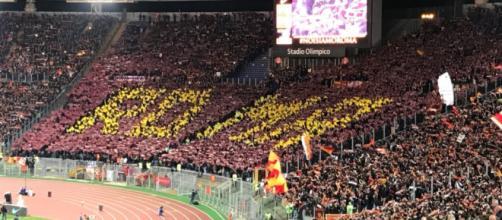 Roma-Lazio, ecco la coreografia della Curva Sud per il derby ... - corrieredellosport.it