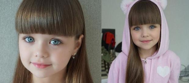A fost desemnată cea mai frumoasă fetiță din lume, o rusoaică de numai șase ani pe nume Anastasia Knyazeva - Foto: Daily Mail (© Instagram.com)
