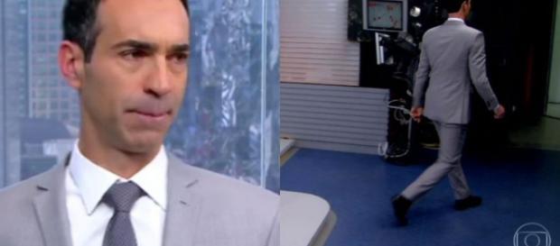 Cesar Tralli mal casou e já teve que atender pedido de diretor da Globo. (Foto Reprodução)