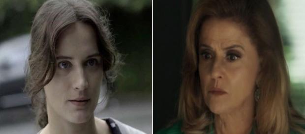 Clara (Bianca Bin) e Sophia (Marieta Severo) (Foto: Divulgação/TV Globo)