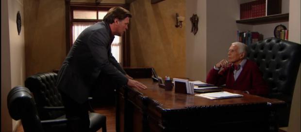 Fernando ameaça Luiz para que deixe sua neta em paz