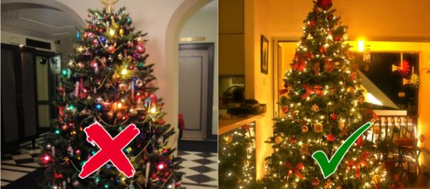 If you are sick of getting tangled in the Christmas lights, try the vertical way of decorating the tree. Image Credit: Blasting News