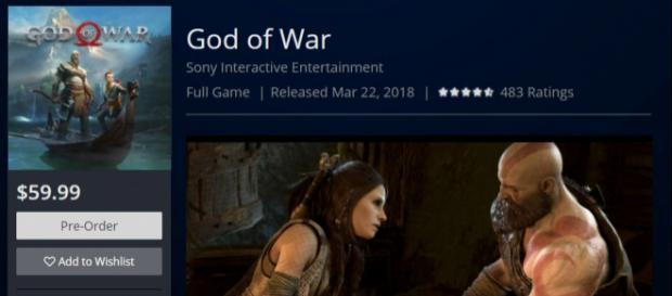 La page du jeu sur le PlayStation Store américain.