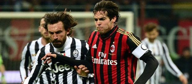 Pirlo y Kaká ya no deleitaron más a sus seguidores el talento que siempre exhibieron. Foto archivo google.