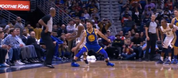The Golden State Warriors will miss Stephen Curry for two weeks due to an injury. (Image Credit: MLG Highlights/YouTube screencap)