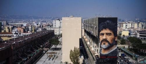 Murales di Maradona a San Giovanni a Teduccio  FOTO - napolitoday.it