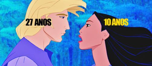 Pocahontas tinha apenas 10 anos quando conheceu John Smith (Foto: Reprodução/Walt Disney)
