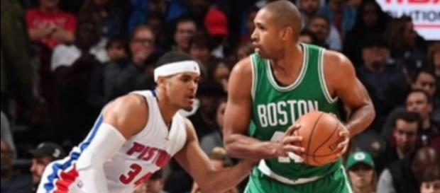 Al Horford scores 18 points and nine rebounds against the Pistons (Photo Credit: CLNS Media Network/YouTube)