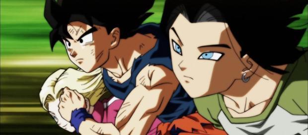 Goku, No.17 y No.18 en el episodio 118.