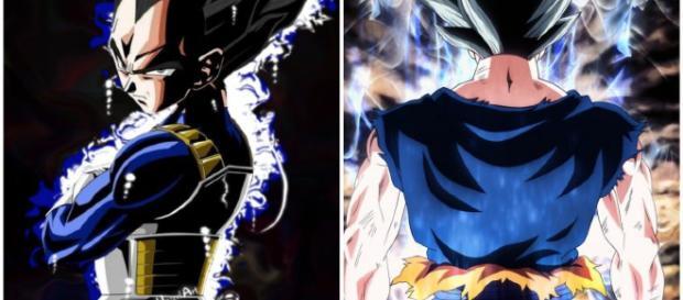 Vegeta y Goku en el ultra instinto