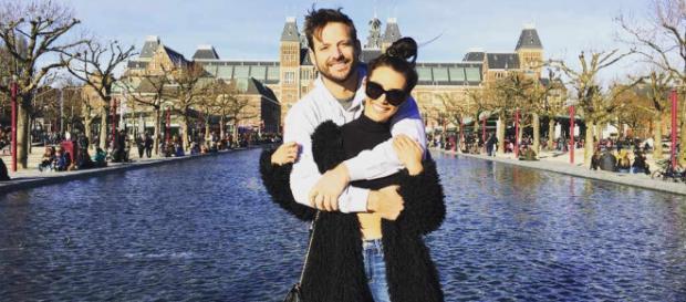 Scheana Marie and Robert Valletta visit Amsterdam. [Photo via Scheana/Instagram]