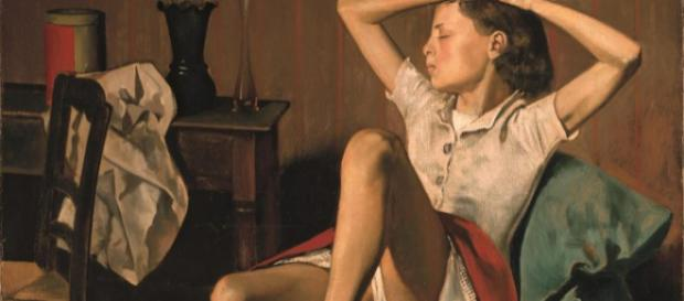 """Therese Dreaming"" [by Balthus en.wikipedia.org]"