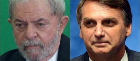 Ex-presidente Lula e deputado federal Jair Bolsonaro