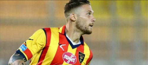 Caturano, attaccante del Lecce.
