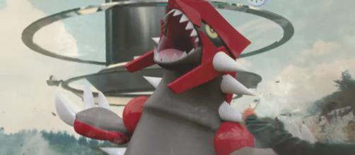 Groudon is one of the new Legendary Pokémon from the Hoenn region - (Image Credit: Pokémon GO/YouTube screenshot)