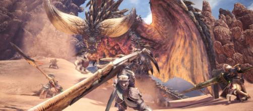 Hunters take on Nergigante (via Twitter - @monsterhunter)