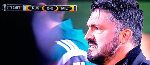 La rabbia di Ivan Gennaro Gattuso per la sconfitta in terra croata