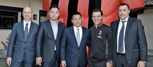 Milan, l'ad Fassone e il ds Mirabelli con il presidente Yonghong Li