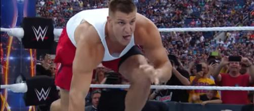 Will Rob Gronkowski show up at the Royal Rumble in 2018? - [Image via WWE/YouTube screencap]