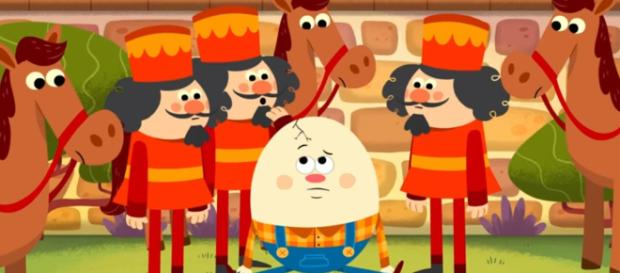 """Humpty Dumpty"" is one of the famous nursery rhymes. [Image:YouTube/SuperSimpleSongs]"