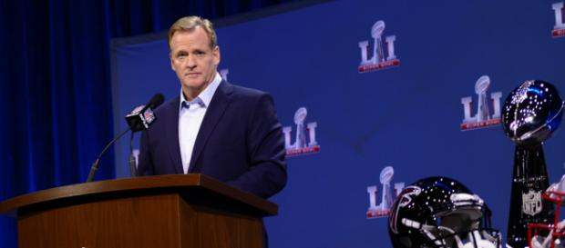 Roger Goodell speaks at press conference. - [Image via WEBN-TV/Flikr]