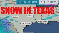 Texas gets snow in some areas for the first time in over 30 years