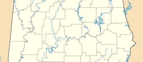Image of Alabama, with county lines shown [via CCO | Wikipedia]