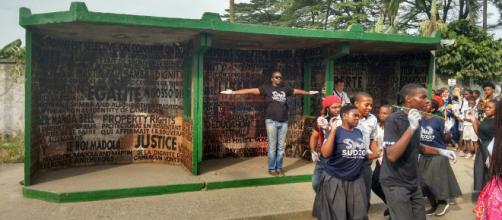 Une des oeuvres de l'artiste Camerounais Justin Ebanda (c) Odile Pahai