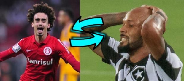 Internacional próximo de troca com o Botafogo (Bruno Silva e Valvidia)