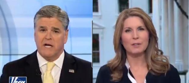 Sean Hannity, Nicolle Wallace, via Twitter