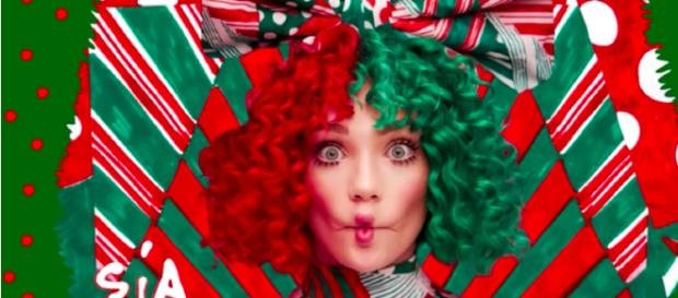 SiaVEVO/ Youtube Screencap of 'Everyday Is Christmas' album cover.