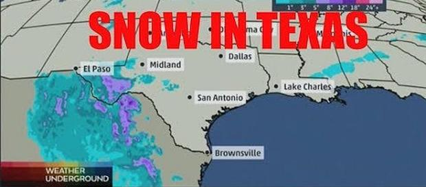 Snow in areas of Texas for first time in 32 years. - [Image: Donation Kingdom/YouTube screenshot]