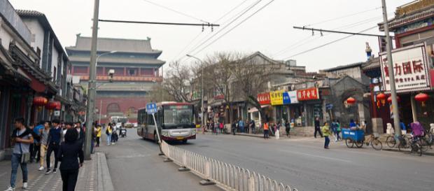 Street scene of Beijing (Image credit – Daniel Case, Wikimedia Commons)