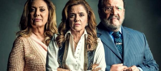 Trio do mal, formado na novela da Globo.