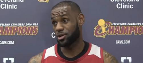 LeBron James could leave the Cavaliers and join the Lakers in 2018 (Image Credit: NBALife/YouTube screencap)