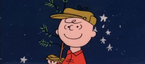 Charlie Brown and his little Christmas tree. (Image via Aaron Vader Youtube).