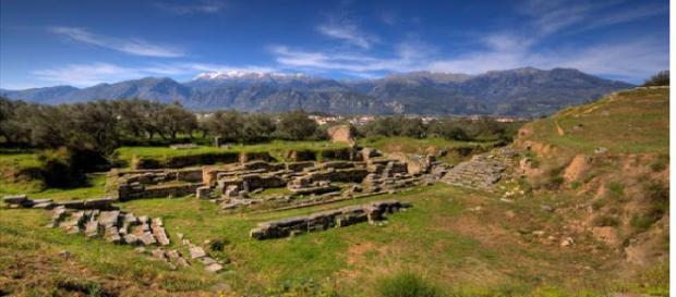 Ruínas da antiga Esparta na Grécia