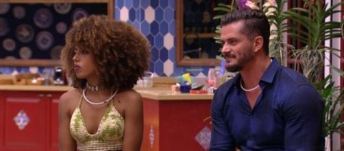 Gabriela Flor e Marcos se enfrentaram no primeiro paredão do BBB17