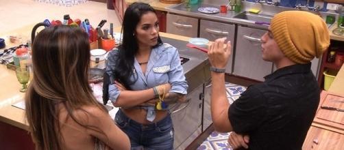 Mayara está com medo de reação dos brothers. (foto: TV Globo)