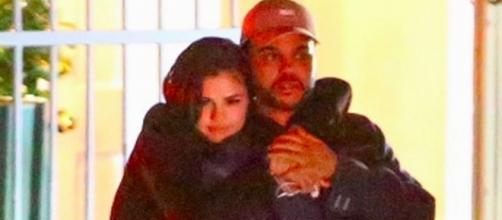 Selena Gomez and The Weeknd via Twitter