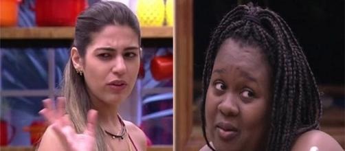 Vivian reclama de cheiro de maconha. (foto: reprodução TV Globo)