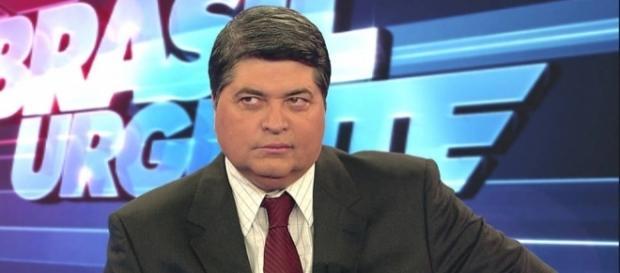 Apresentador José Luiz Datena em seu programa televisivo