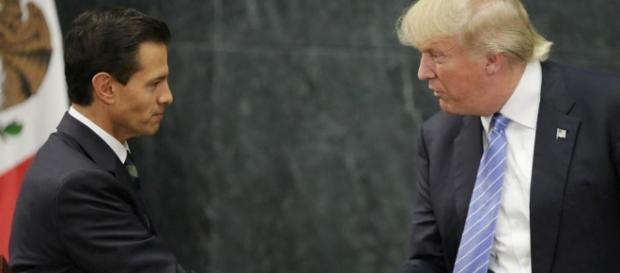 Donald Trump con il Presidente Messicano