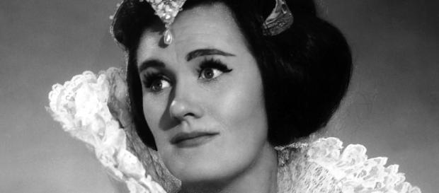 """Joan Sutherland as Lucia, a signature role, propelling her to """"sudden"""" fame. Photo: Louis Mélançon/Metropolitan Opera Archives, used with permission."""