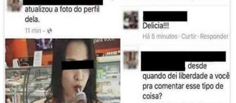 Moça posta foto sensual e acaba recebendo comentário hilário. (foto: reprodução Facebook)