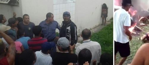 População invadiu a delegacia para fazer justiça com as próprias mãos