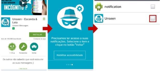 App Unseen evita que você seja visto ao ler uma mensagem